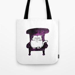 Staring Cat (Pink) Tote Bag