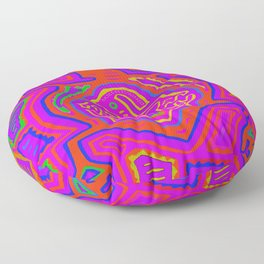 Kuna Indian Mother with Child Floor Pillow