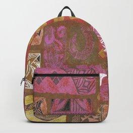 Vintage Hawaiian Collage Backpack
