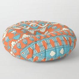 Mesopotamia ornament Tribal seamless pattern Floor Pillow