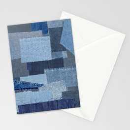 Boroboro Blue Jean Japanese Boro Inspired Patchwork Shibori Stationery Cards