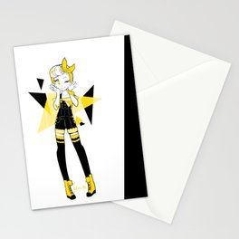 Yellow bow Stationery Cards