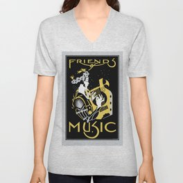 Friends of Music Unisex V-Neck