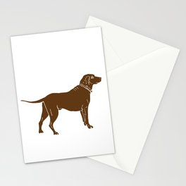 Chocolate Lab Stationery Cards