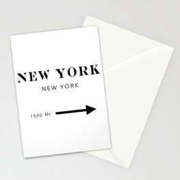New York New York City Miles Arrow Stationery Cards