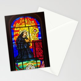 Stained Glass of the Cathedral Almudena Stationery Cards