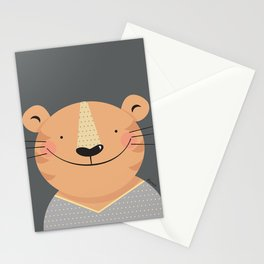 Tiger in pajamas Stationery Cards