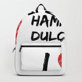 I Love Hammered Dulcimers Backpack
