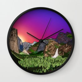 Yosemite, Tunnel View, at Dawn  Wall Clock