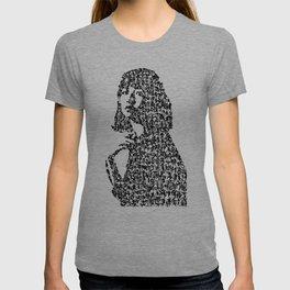 Kanji Calligraphy Art :woman's face #32 T-shirt
