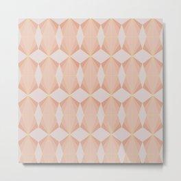 geometry art decó in pink and mauve Metal Print