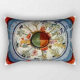 The Celestial Circle of Life Rectangular Pillow