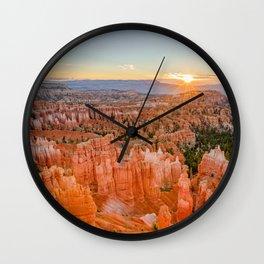 Bryce Canyon Sunrise Utah National Park Southwest USA Landscape Wall Clock