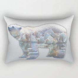 POLAR BEAR & MELTING ICE Rectangular Pillow