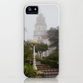 Foggy Hearst Castle iPhone Case