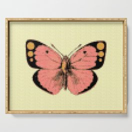 Butterfly Pink Serving Tray