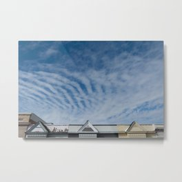 zebra clouds Metal Print
