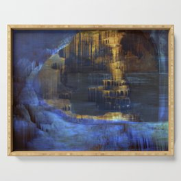 Cave 03 / The Interior Lake / wonderful world 10-11-16 Serving Tray