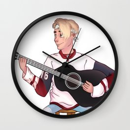 play the guitar Wall Clock