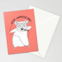 Hamster singing Hamster Time | Red Stationery Cards