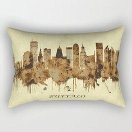 Buffalo New York Cityscape Rectangular Pillow