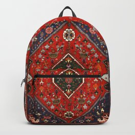 N65 - Colored Floral Traditional Boho Moroccan Style Artwork Backpack