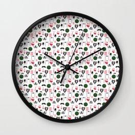 Color funny men's retro vector seamless set Wall Clock