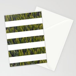 stripes beyond the pines Stationery Cards