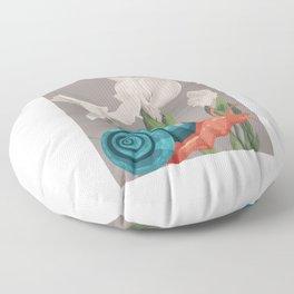 Photo Art Snail Floor Pillow