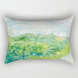 Vincent Van Gogh - Green Wheat Fields, Auvers Rectangular Pillow
