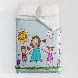 To Mom With Love Comforters
