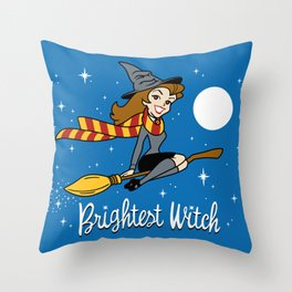 Brightest Witch Throw Pillow