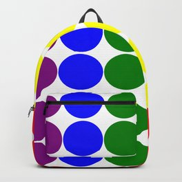 Round circles with gay rainbow colors Backpack