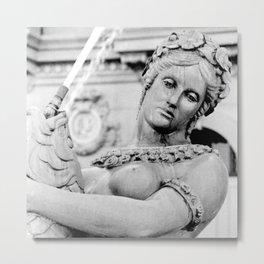Parisian Fountain Statue Metal Print