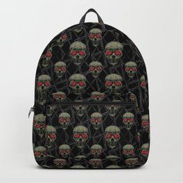 Skulls Motif Pattern Backpack