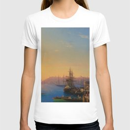 View of Constantinople and the Bosphorus Landscape Masterpiece by Ivan Aivazovsky T-shirt