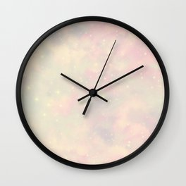 Pastel Cloulds Sky Seamless Nebula 134 Wall Clock