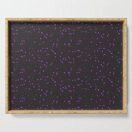 Violet Dark Brown Shambolic Bubbles Serving Tray