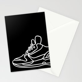 Sneakers Outline #2 Stationery Cards