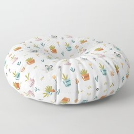 Potted Plants Pattern Floor Pillow
