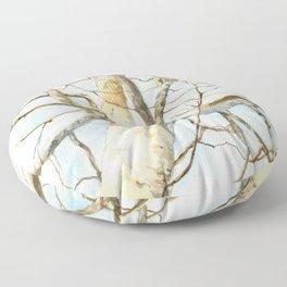 Sycamore Tree, Watercolor Art, Platanus occidentalis Floor Pillow
