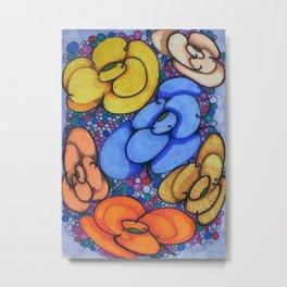Bubble Blossoms Metal Print