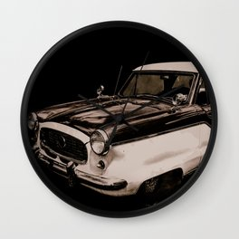 Vintage Automobile 2 Wall Clock