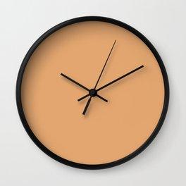 Simply Solid - Brown Sugar Wall Clock
