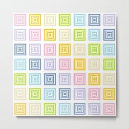 Pastel Rainbow Squared Metal Print