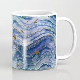 Blue Green Geode Watercolor Coffee Mug