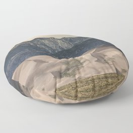 Great Sand Dunes National Park - Rocky Mountains Colorado Floor Pillow