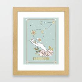 Capricorn Zodiac Series Framed Art Print