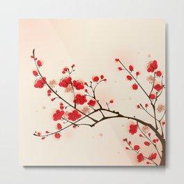Oriental plum blossom in spring 009 Metal Print