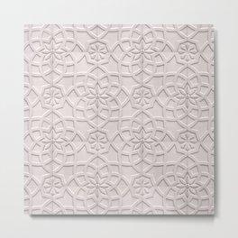 Beige Wall Tiles Metal Print